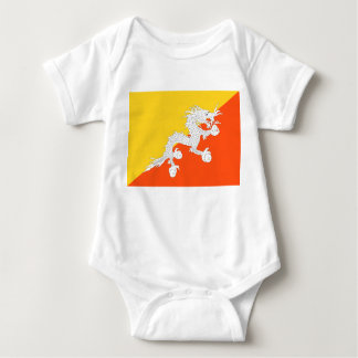 Bhutan National World Flag Baby Bodysuit