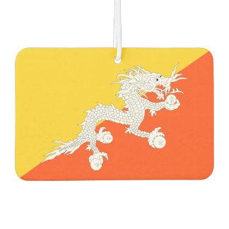 Bhutan National World Flag Car Air Freshener