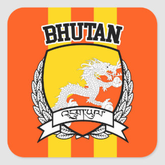 Bhutan Square Sticker