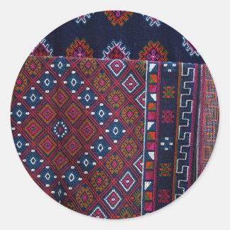 Bhutanese Rugs Classic Round Sticker