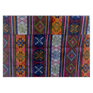Bhutanese Textile Cutting Board