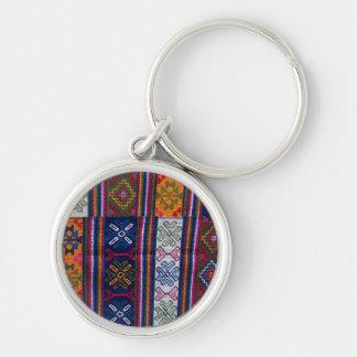 Bhutanese Textile Key Ring