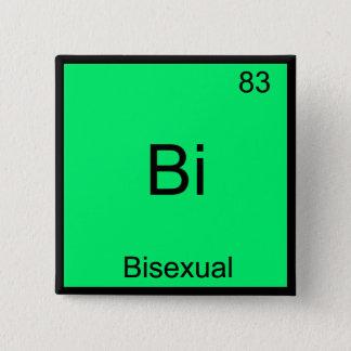Bi - Bisexual Chemistry Element Symbol Funny 15 Cm Square Badge