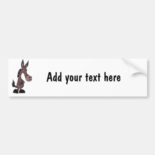 BI- Custom Stubborn Mule Bumper Sticker