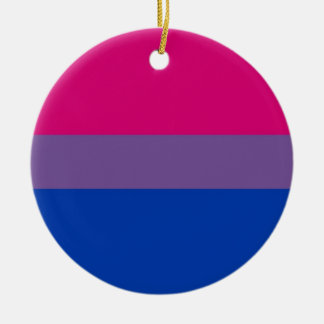 Bi Flag Flies For Bisexual Pride Round Ceramic Decoration