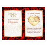 Bi-Fold Red Rose Floral Wedding Program Flyers