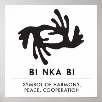 BI NKA BI   Symbol of Harmony, Peace, Cooperation Poster