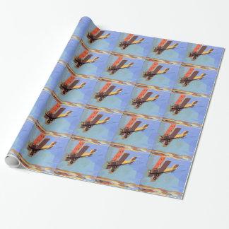 Bi Plane Vintage Wrapping Paper