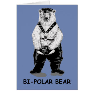 Bi-polar bear card