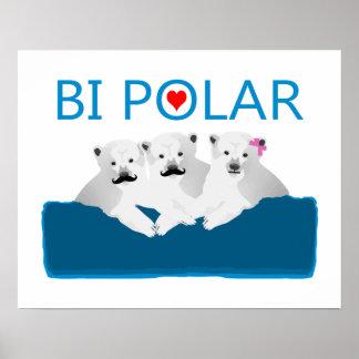 Bi Polar Bears Poster