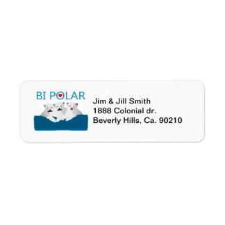 Bi Polar Bears Return Address Label