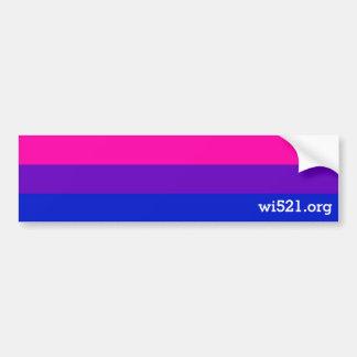 Bi pride bumper sticker w/URL