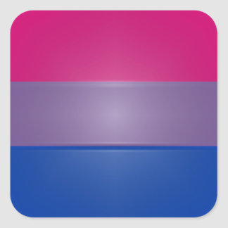 Bi Pride Colors Highlight Square Sticker