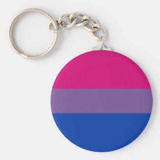 Bi Pride Flag Keychain Classic
