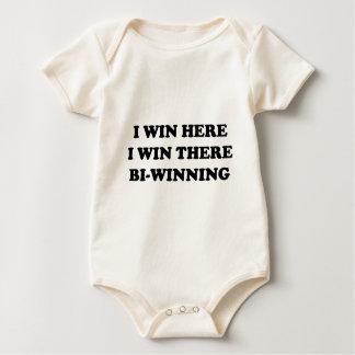 BI-WINNING! I Win Here, I Win There! Baby Bodysuit