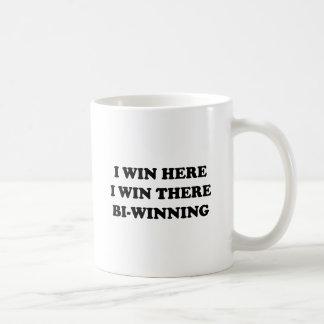 BI-WINNING! I Win Here, I Win There! Basic White Mug