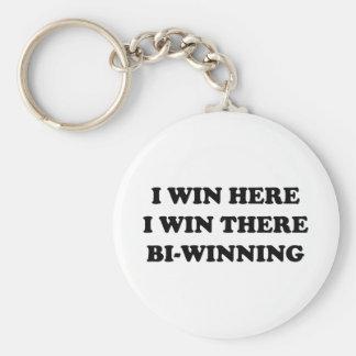 BI-WINNING I Win Here I Win There Key Chains