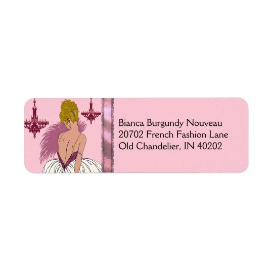Bianca in Pink and Burgundy Return Address Label