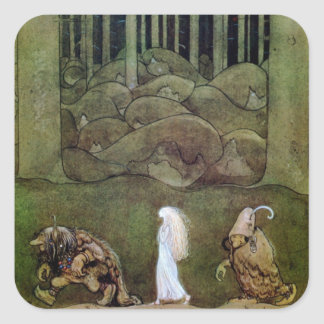 Bianca Marie and the Forest Trolls Square Sticker