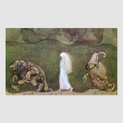 Bianca Marie and the Forest Trolls Rectangular Stickers