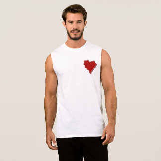Bianca. Red heart wax seal with name Bianca Sleeveless Shirt