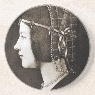 Bianca Sforza by Leonardo da Vinci Coaster