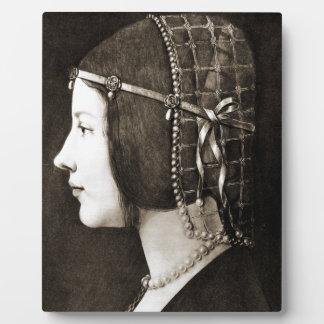 Bianca Sforza by Leonardo da Vinci Display Plaque