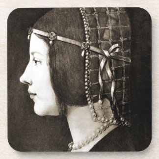 Bianca Sforza by Leonardo da Vinci Drink Coasters