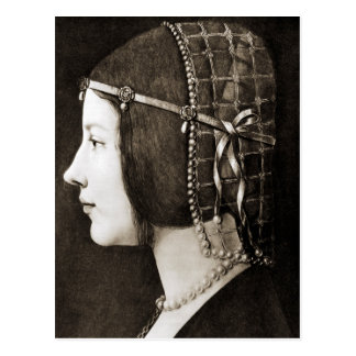 Bianca Sforza by Leonardo da Vinci Postcard