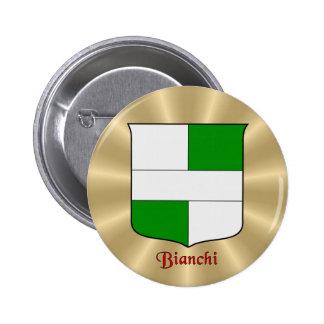 Bianchi Historical Shield on Golden Sunburst 6 Cm Round Badge