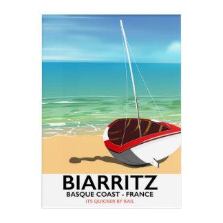 Biarritz France Beach travel poster Acrylic Print