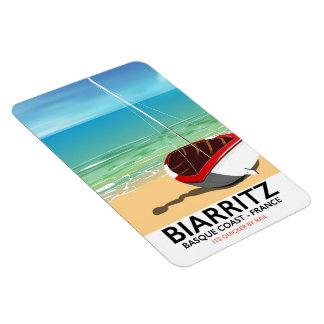 Biarritz France Beach travel poster Magnet