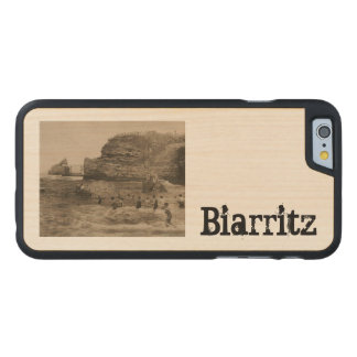 BIARRITZ - Rocher de la Virge et Bains du port Carved® Maple iPhone 6 Slim Case