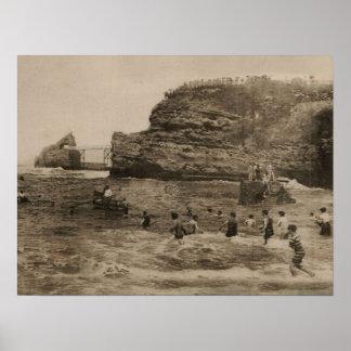 BIARRITZ - Rocher de la Virge et Bains du port Poster