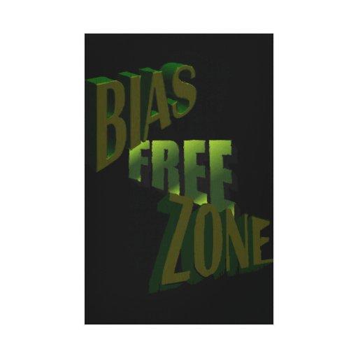 Bias Free Zone Canvas Print