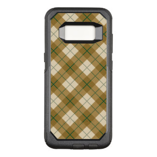 Bias Plaid in Gold with Green Stripe OtterBox Commuter Samsung Galaxy S8 Case