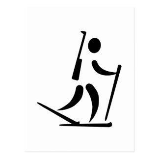 Biathlon icon postcard