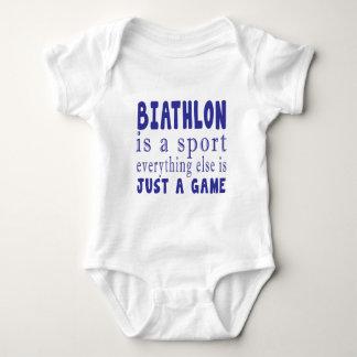 BIATHLON JUST A GAME BABY BODYSUIT