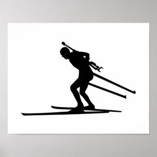Biathlon skiing poster