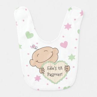 Bib Baby's Girl's 1st Passover Pink/Green