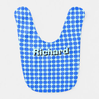 Bib - Blue Dots with Name