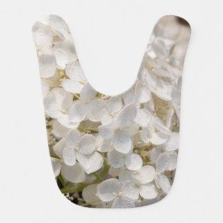 Bib of baby, flowers white