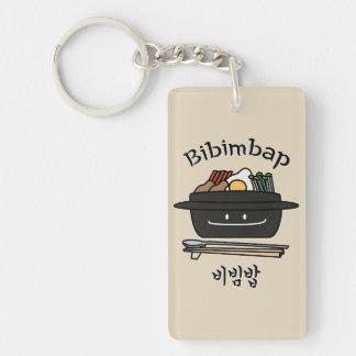 Bibimbap Korean rice bowl namul vegetables egg Key Ring