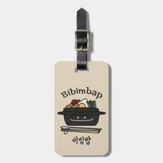 Bibimbap Korean rice bowl namul vegetables egg Luggage Tag