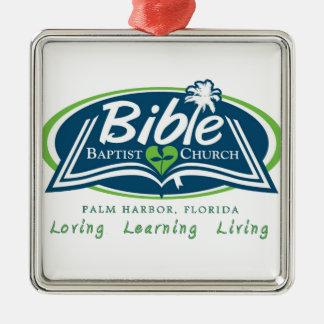 Bible Baptist Church Logo Items Silver-Colored Square Decoration
