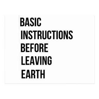 BIBLE: Basic Instructions Before Leaving Earth Postcard