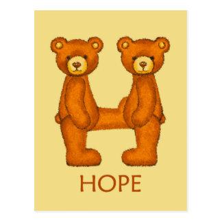 Bible Bears ~ Hope Scripture 2 ~ Flashcard Postcard