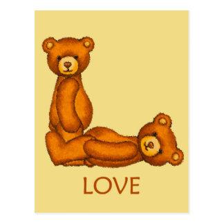 Bible Bears ~ Love Scripture 2 ~ Flashcards Postcard