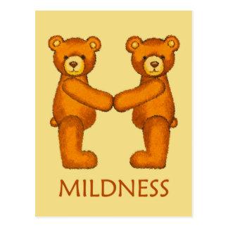 Bible Bears ~ Mildness Scripture ~ Flashcards Postcard