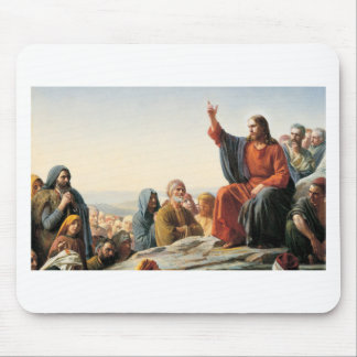 Bible Blessing Faith Jesus Teaching Multitude Mouse Pad